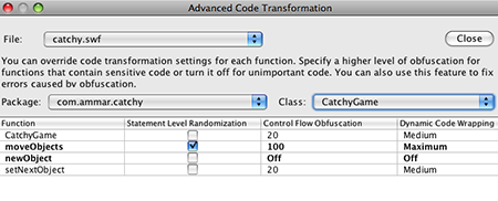 Advanced Code Transformation Selection